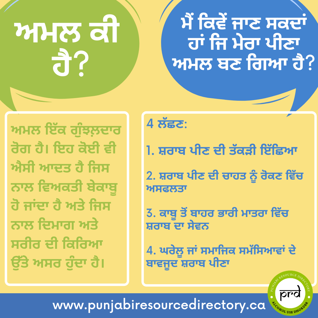 what is addiction Punjabi
